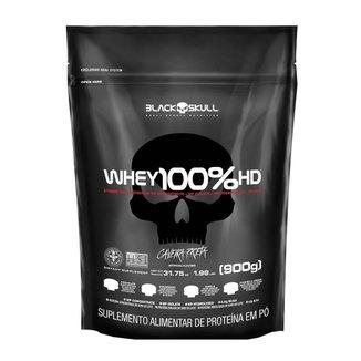100% Whey HD Cookies and Cream 900g Refil - Black Skull