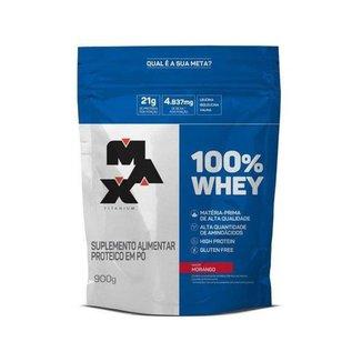 100% Whey Protein Concentrado 900g (Refil) - Max Titanium