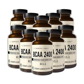 10X Bcaa 2400 (60 Cápsulas) - Generic Labs