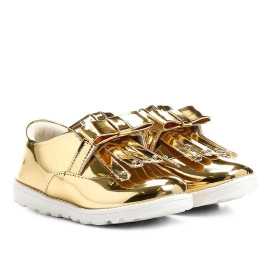 689babcd0c Sapato Klassipé Infantil - Ouro - Compre Agora