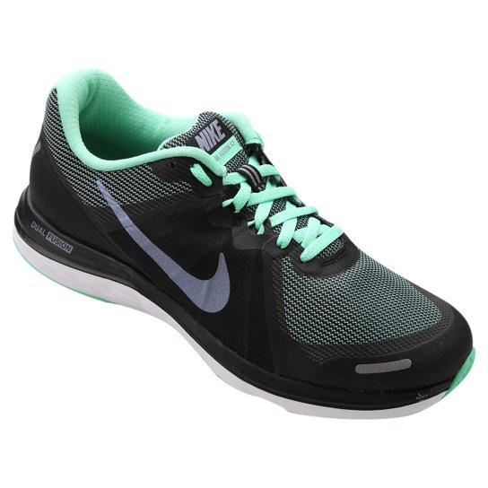 67140c40297 Tênis Nike Dual Fusion X 2 Feminino - Preto+Verde Água