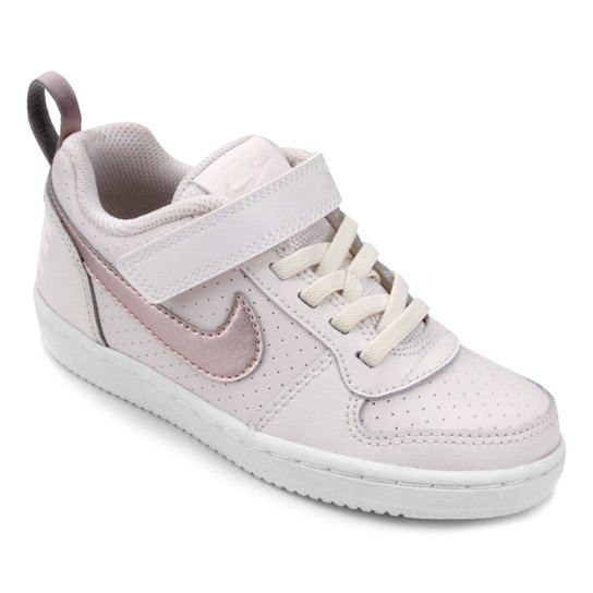 9c036fe785 Tênis Infantil Nike Court Borough Low Feminino - Ouro - Compre Agora ...