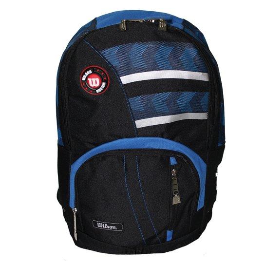b4e07b497 Mochila Esportiva WTIX12208C Preto/Azul - Wilson - Preto+Azul Turquesa