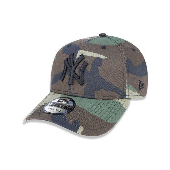 70ad774227e96 Boné New Era Aba Curva 940 Yankees Camuflado - Snapback - Marrom+Verde