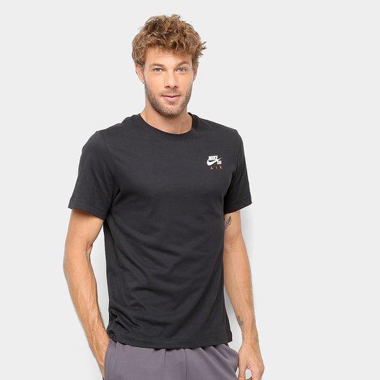 8ba44d5699e5e Camiseta Nike SB Básica Estampada Dry Air Masculina - Preto - Compre ...