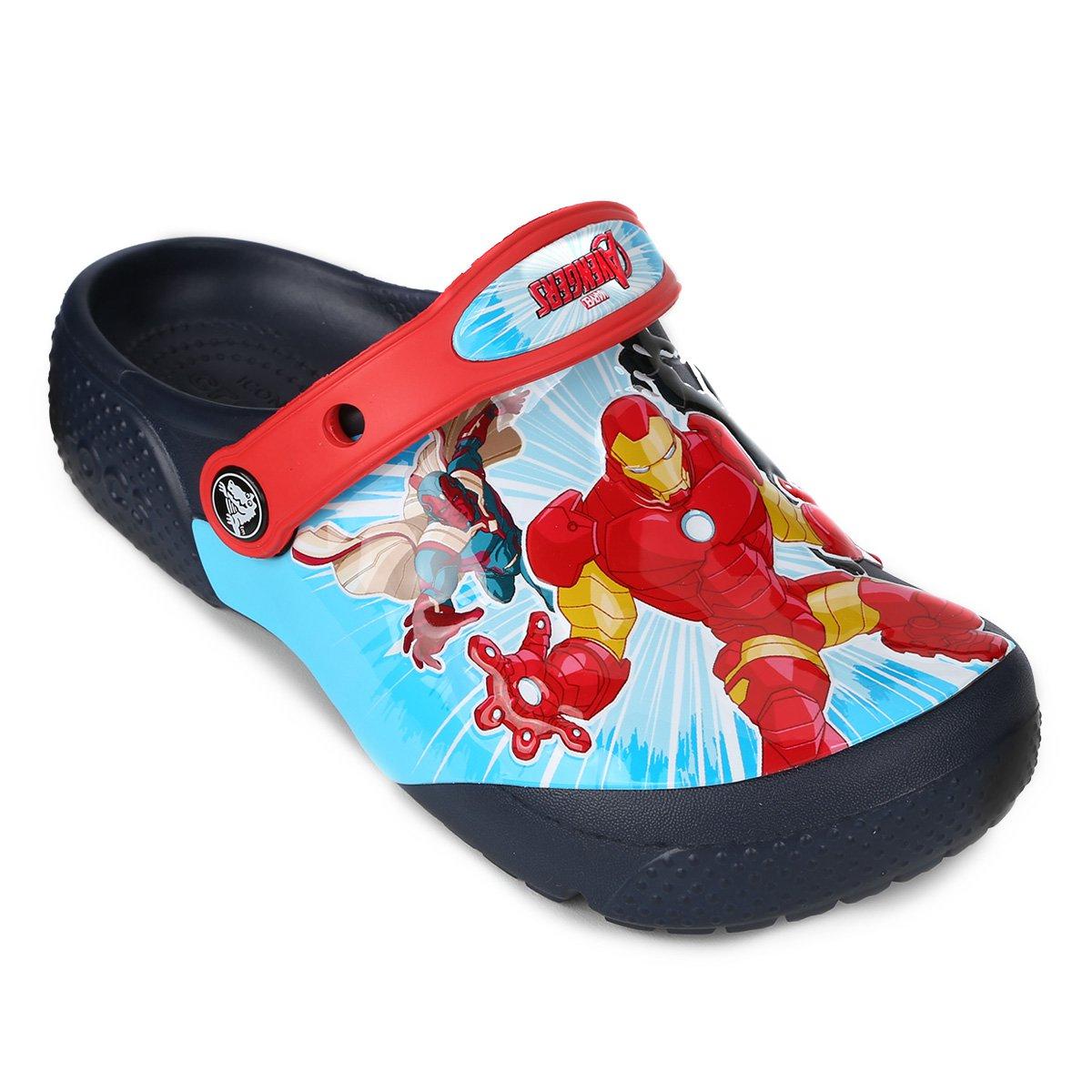 8eb210a305 Sandália Crocs Infantil Funlab Marvel Avengers Masculina