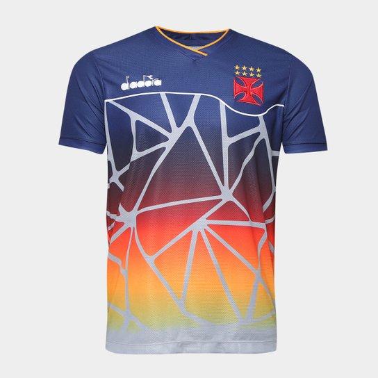 28d52d806c Camisa Vasco Treino 2018 Atleta Diadora Masculina - Marinho - Compre ...