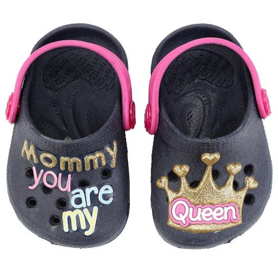 8cf93ddda Babuche Plugt Baby Queen Infantil - Marinho+Pink