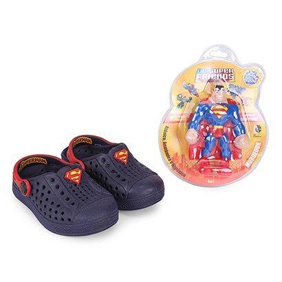 Sandália Infantil Plugt Joy Superman Masculina