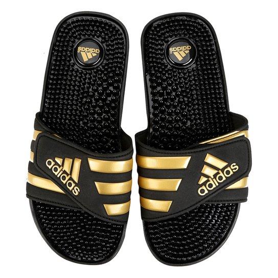 0f6ed8c4bb Chinelo Adidas Adissage - Preto e Dourado - Compre Agora