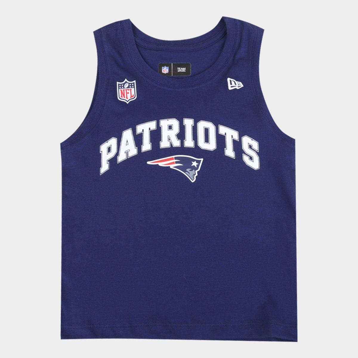 Regata Infantil New Era NFL New England Patriots Masculina