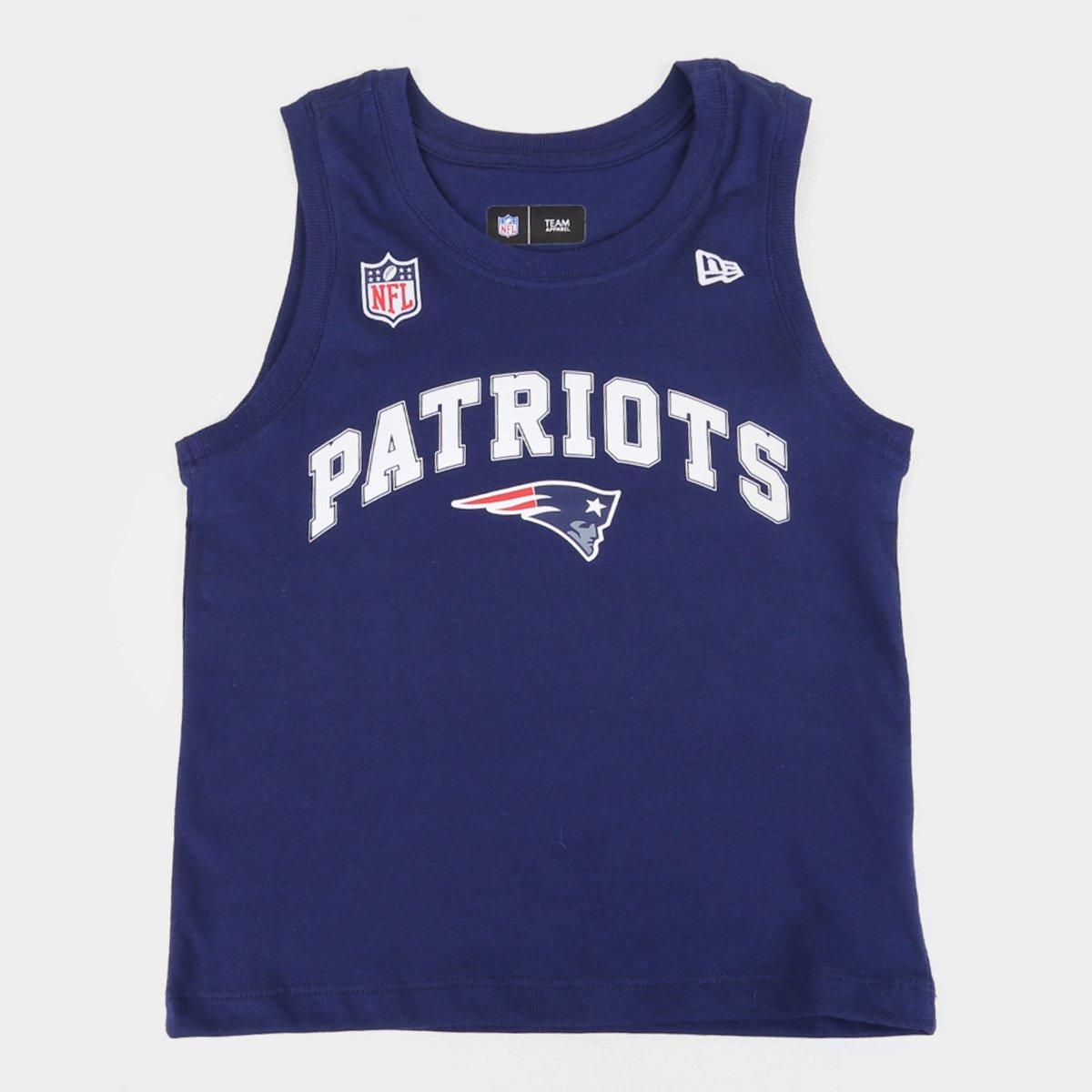 Regata Juvenil New Era NFL Versatile Sport Classic Patriots Masculina