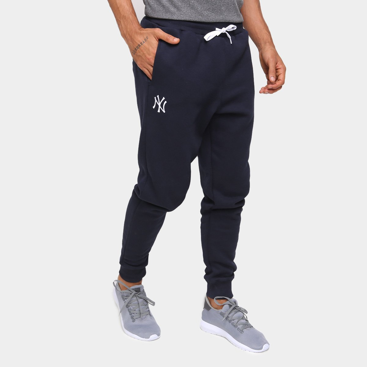 Calça Moletom MLB New York Yankees New Era College Basic Masculina