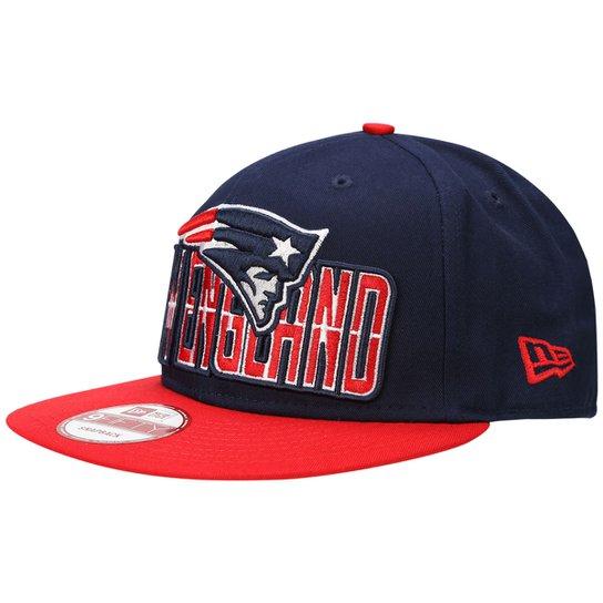 Boné New Era 950 NFL New England Patriots - Marinho+Vermelho 4fca501b51db8