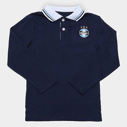 Camisa Polo Infantil Piquet Grêmio