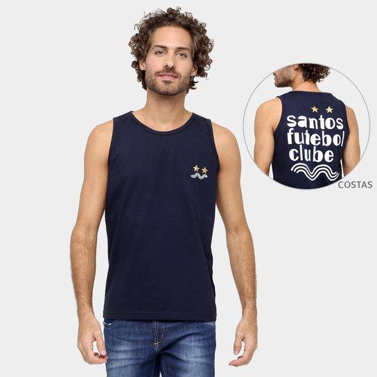 Camiseta Regata Santos Futebol Clube II Masculina - Marinho - Compre ... cf575e266e4