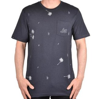 Camiseta Lost Pocket Palm Tree Masculina b412b86b74520