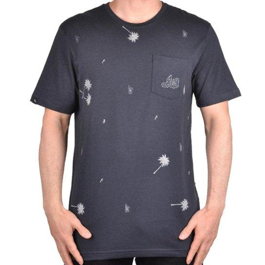 Camiseta Lost Pocket Palm Tree Masculina - Marinho - Compre Agora ... d8a1273adc6ce