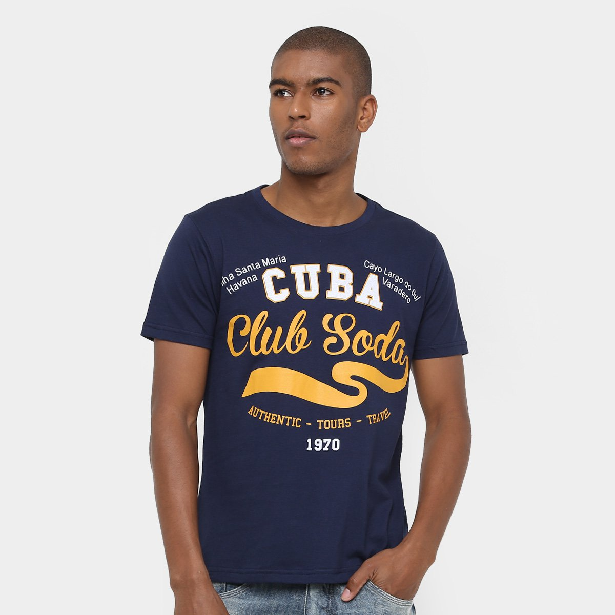 Camiseta Eagle Brasil Cuba Club Soda Masculina