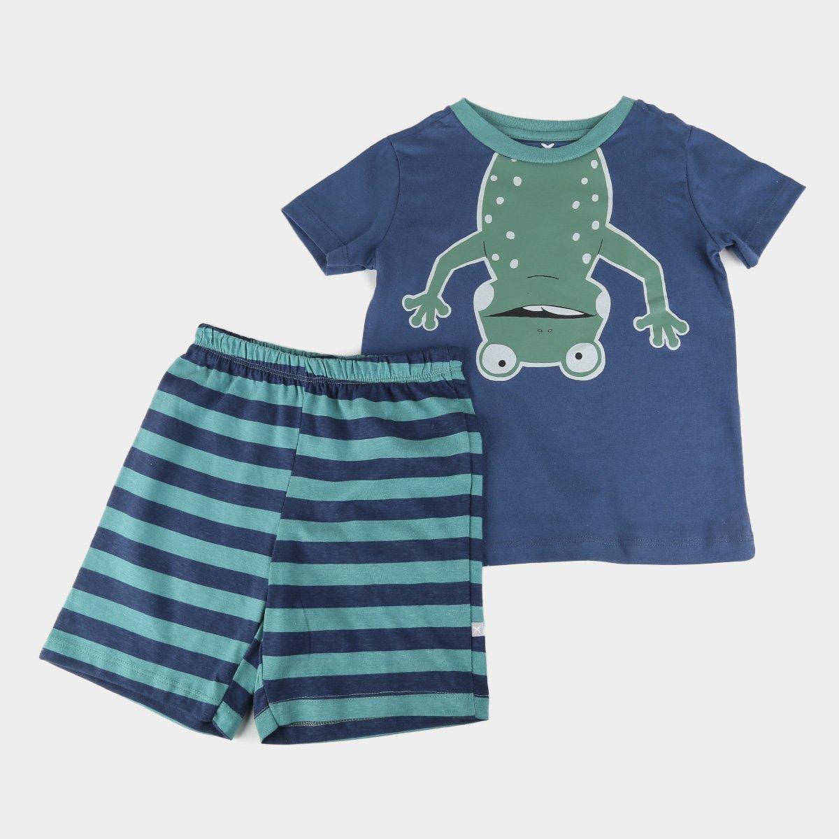 Pijama Infantil Hering Kids Curto Sapinho Masculino