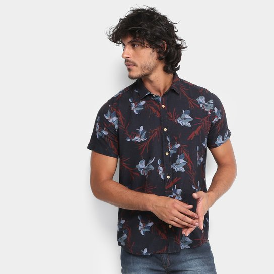6ae68fe6b Camisa Reserva Estampada Floral Manga Curta Masculina | Netshoes