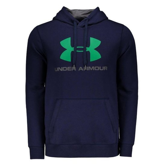 b82958c7cfb Moletom Under Armour Rival Fitted Graphic Masculino - Marinho ...