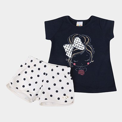 Conjunto Infantil Pulla Bulla Laço Feminino