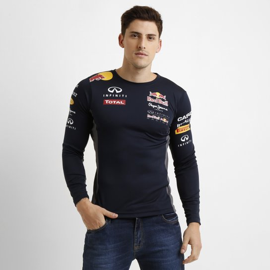 Camiseta Red Bull Funcional Teamwear M L - Compre Agora  9fdf258619b
