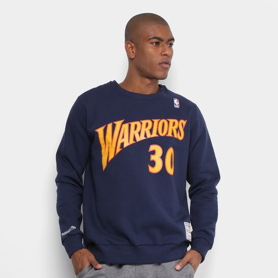 f5febe445 Moletom NBA Golden State Warriors Curry 30 Mitchell   Ness Masculino -  Marinho