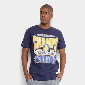 6c321076752e9 Camiseta Mitchell   Ness Sportman Crew Golden State Warriors Masculina