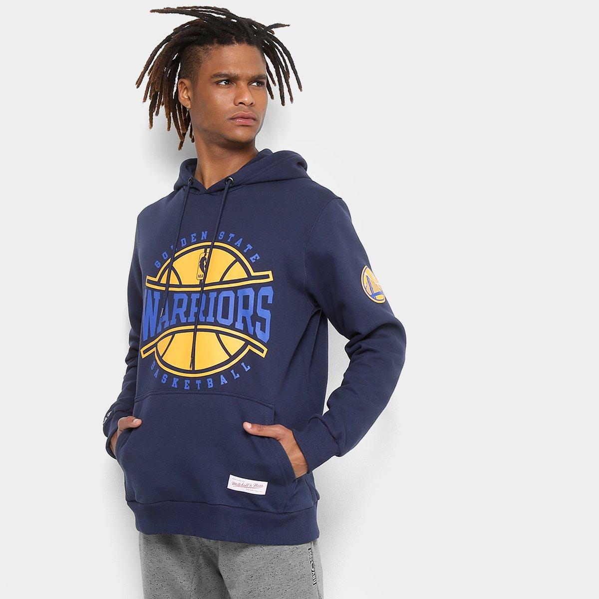 Moletom Mitchell & Ness NBA Golden State Warriors II Masculino