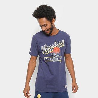 b358f3caea7b2 Camisa Mitchell   Ness Drive To The Basket Golden State Warriors Masculina