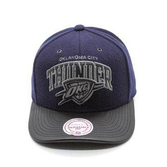 04c5b86beffbd Boné Mitchell   Ness Blazer NBA Oklahoma City Thunder Aba Curva