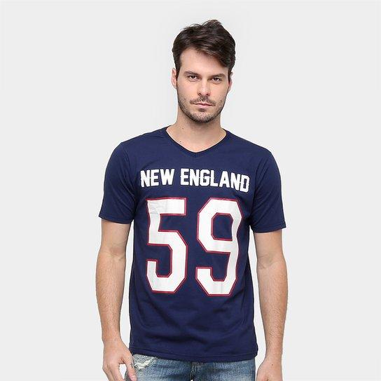 Camisa Futebol Americano New England Gonew Leagues Masculina - Marinho 986aea3570777