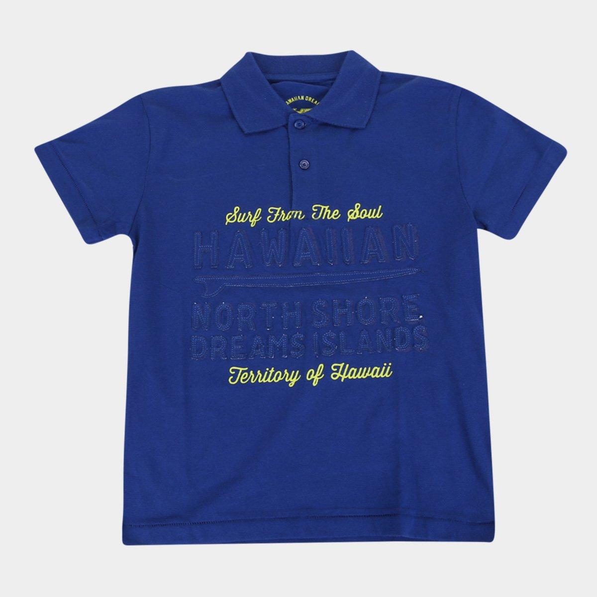 Camisa Polo Infantil HD Estampada Masculina