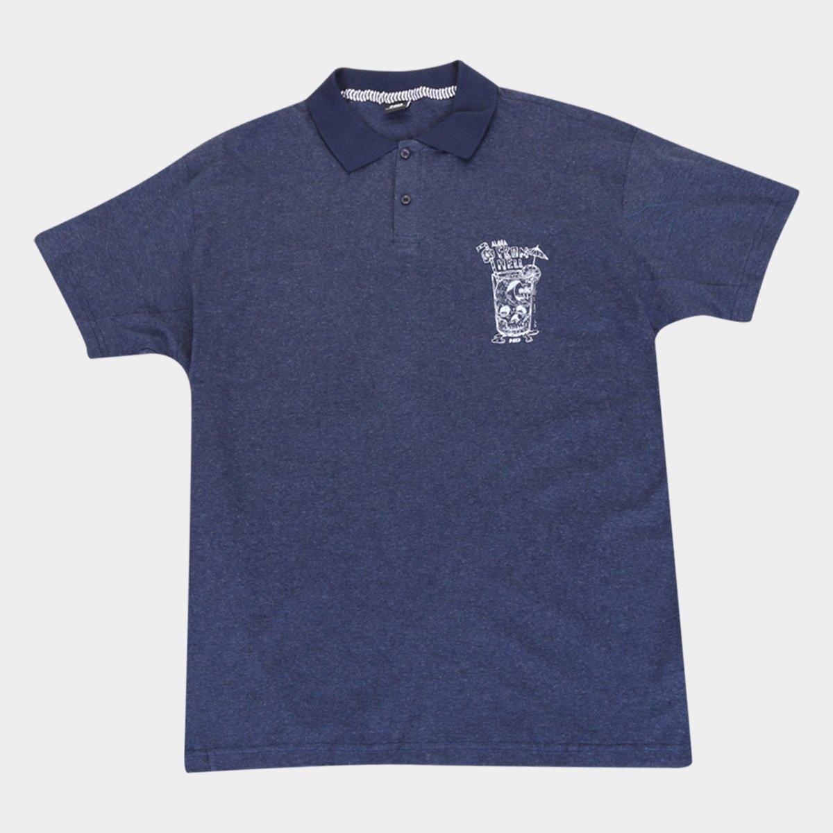 Camisa Polo HD Plus Size Estampada Masculina