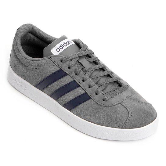Tênis Adidas Vl Court 2 Masculino - Cinza - Compre Agora  099bc392f6a1d