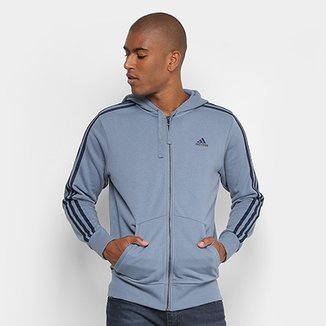 a0653215444 Jaqueta Adidas Ess 3S Fz Ft Masculina