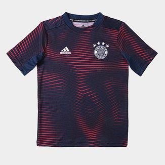 4cc2286b4 Camisa Bayern de Munique Infantil Pré-Jogo 19/20 Adidas