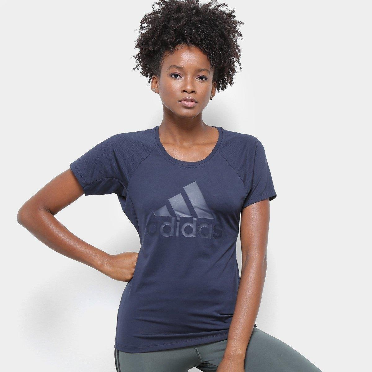 Camiseta Adidas Trng Logo Feminina