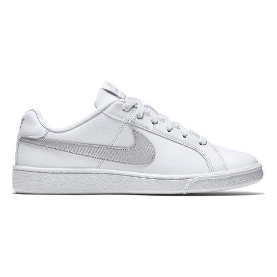 fb2c460af7 Tênis Couro Nike Court Royale Feminino - Branco e prata