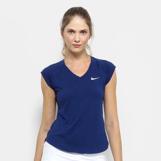 eb8b813b91 Camiseta Nike Pure Feminina - Marinho - Compre Agora