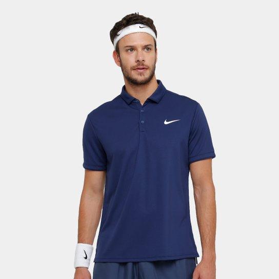 Camiseta Polo Nike Team Masculina - Marinho - Compre Agora  a62662d786a53