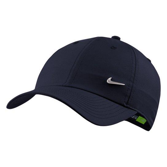 Boné Nike Aba Curva H86 Metal Swoosh - Marinho - Compre Agora  c3a739c894d
