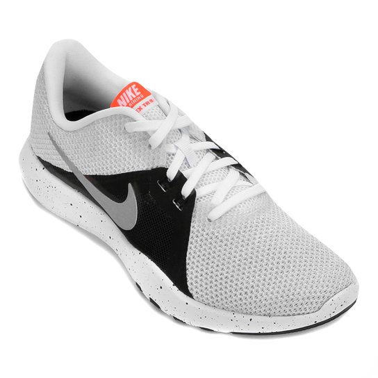 8713deec9b Tênis Nike Flex Trainer 8 Feminino - Branco e prata - Compre Agora ...