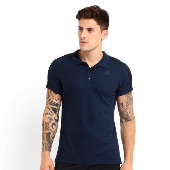 Camisa Polo Adidas Originals ESS 3S - Marinho b03f81a9fc3b1