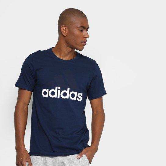 Camiseta Adidas Mc Ess Linear Masculina - Marinho - Compre Agora ... f7fe569abc490