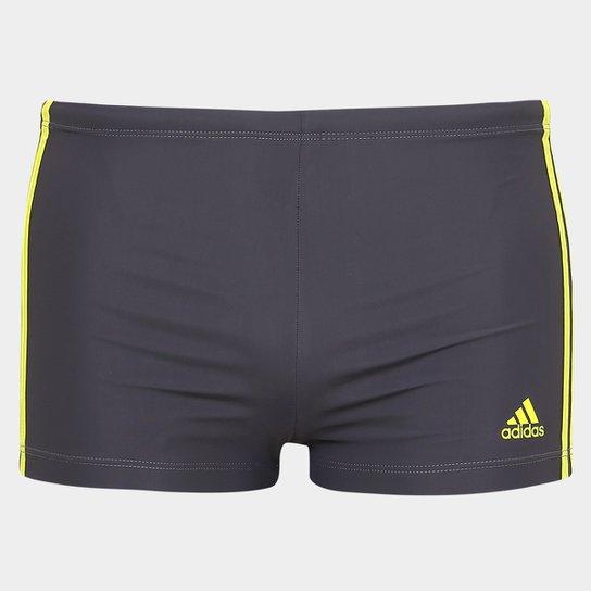 a4ca4b7469 Sunga Adidas Boxer I3S - Grafite+Amarelo