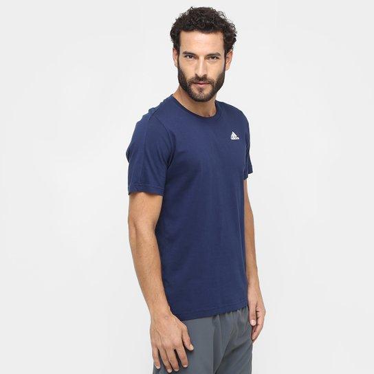 56bf7e117 Camiseta Adidas Essential Base Masculina - Marinho - Compre Agora ...