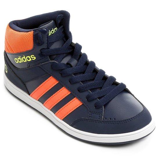 be020ef5362bc Tenis Adidas Hoops Mid K Infantil - Marinho - Compre Agora